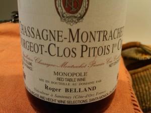 Roger Belland Chassagne-Montrachet Clos Pitois 1er Cru rouge