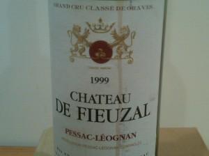 Château de Fieuzal, Pessac-Léognan 1999