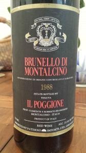 Tenuta Il Poggione, Brunello di Montalcino 1988 #1