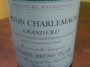 Domaine Bruno Clair, Corton Charlemagne Grand Cru 1999 #1