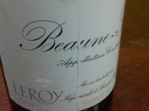 Domaine Leroy Beaune Sizies 1er Cru 1991 #2
