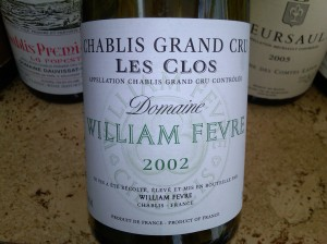 Domaine William Fevre, Chablis les Clos Grand Cru 2002