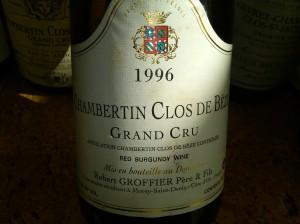 Robert Groffier Père et Fils, Chambertin Clos-de-Bèze 1996