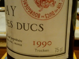 d'Angerville Volnay Ducs 1990