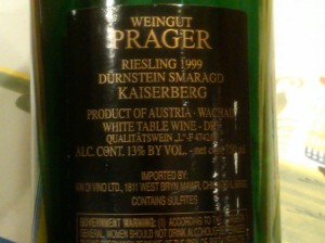 Prager Riesling 1999 #2