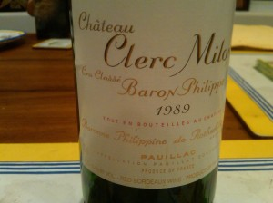Clerc Milon 1989 #1