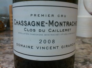 Girardin Chassagne Cailleret 2008