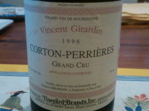 Girardin Corton Perrieres 1996