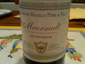 Mazilly Meursault Meurgers 2010