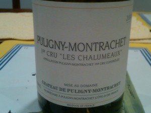 Chateau du Puligny Montrachet Puligny 2004