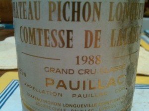 Pichon Lalande 1988 #1