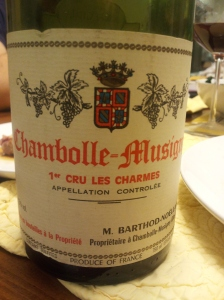 Barthod Chamblle Charmes 1988