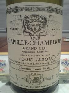 Jadot Chapelle Chambertin 1988 #2