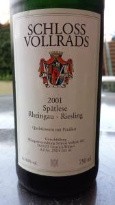 Vollrads Spatlese 2001 #2