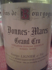 Georges Lignier Bonnes Mares 1996 #3