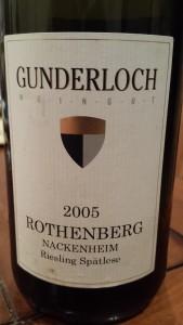 Gunderloch Spatlese 2005 #4