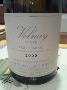 Jean Boillot Volnay Fremiets 2000