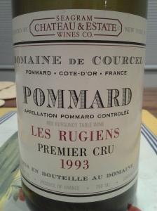 Courcel Pommard Rugiens 1993