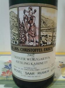 J.J. Christoffel Urziger Wurzgarten Kabinett 2002 #3