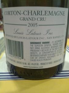 Louis Latour Corton Charlemagne 2005 #4