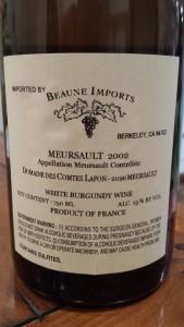 Comtes Lafon Meursault 2002 #2