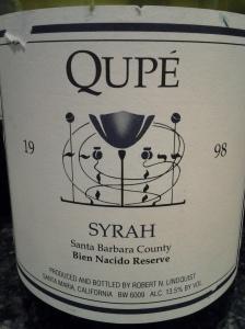Qupe Syrah Bien Nacido 1998