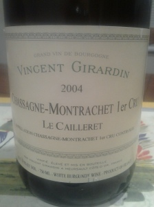 Girardin Chassagne Caillerets 2004