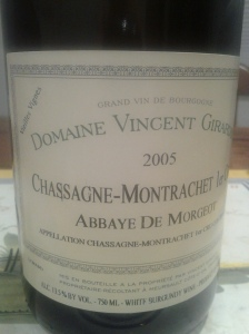 Girardin Chassagne Morgeot 2005
