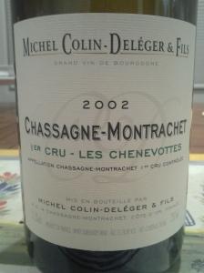 Colin-Deleger Chassagne Chenevottes 2002 #2