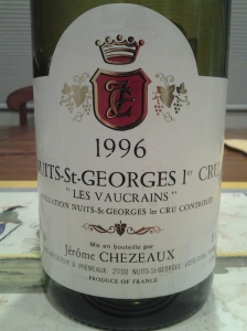 Jerome Chezeaux Nuits Vaucrains 1996 #1