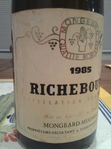 Mongeard-Mugneret Richebourg 1985