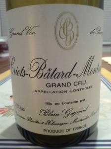 Blain-Gagnard Criots Batard Montrachet 2010