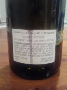 Francois Gaunoux Volnay Chenes 2011 #1