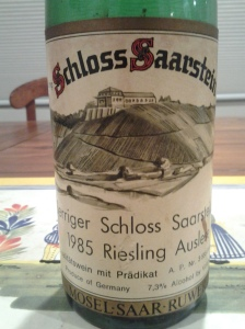 Schloss Saarstein Serriger Schloss Saarsteiner Riesling Auslese 1985