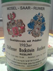 Zilliken Ockfener Bockstein Riesling Auslese 1983 #4