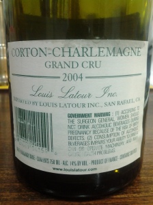 Louis Latour Corton Charlemagne 2004
