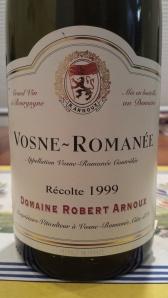 Arnoux Vosne Romanee 1999