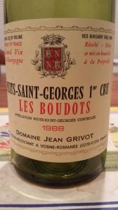 Grivot Nuits Boudots 1988 #1