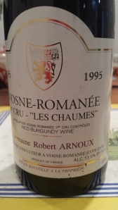 Arnoux Vosne Chaumes 1995
