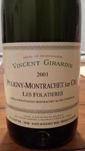 Girardin Puligny Folatieres 2001 #1