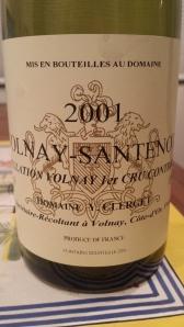 Clerget Volnay Santenots 2001 #1