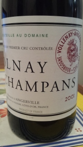 d'Angerville Volnay Champans 2001