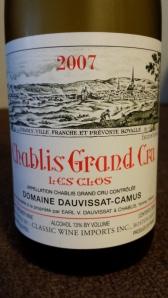 Dauvissat Chablis Clos 2007