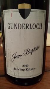 Gunderloch Jean Baptiste Kabinett 2010