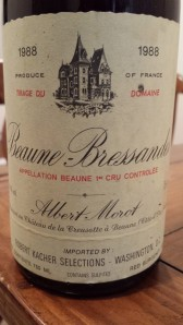 Morot Beaune Bressandes 1988