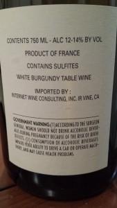Boisson Bourgogne Aligote 2009 #1
