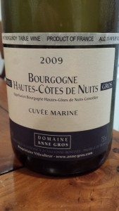 Anne Gros Bourgone Blanc 2009 #1