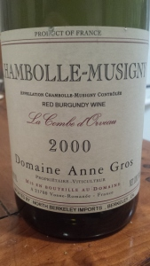Anne Gros Chambolle Orveau 2000