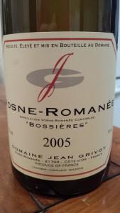 Grivot Vosne Boissieres 2005