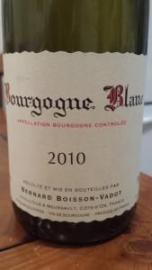 Boisson Vadot Bourgogne Blanc 2010